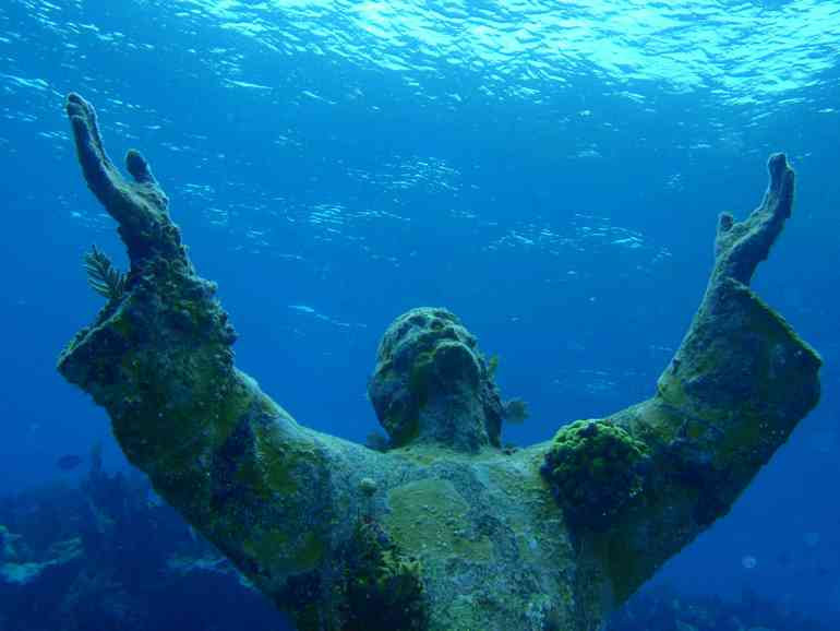 Christ of the Abyss at San Fruttuoso, Liguria