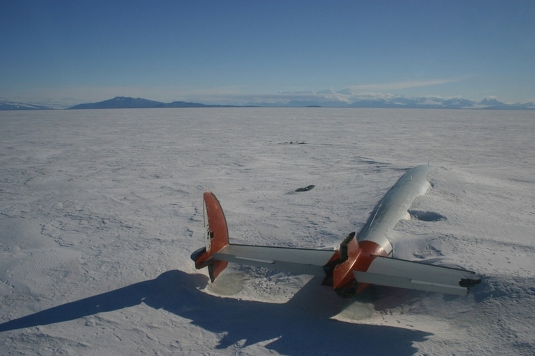 The remains of the Pegasus in McMurdo Sound, Antarctica