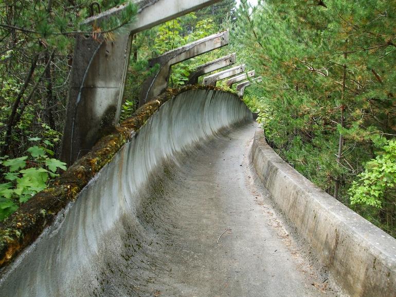 1984 Winter Olympics bobsleigh track in Sarajevo
